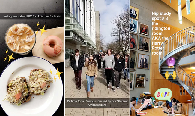 Did you know that UBC's on Snapchat?