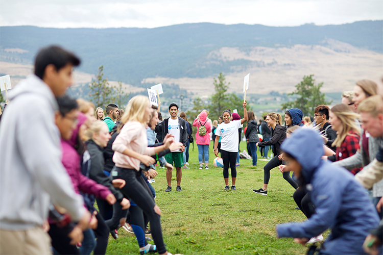 Create orientation on the Okanagan campus